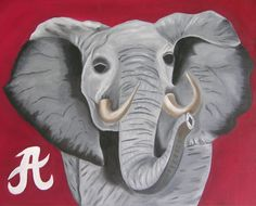 Alabama painting I did in oils:) Roll Tide