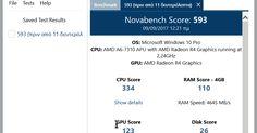 Το Novabench είναι ένα δωρεάν σημείο αναφοράς ελέγχου που ελέγχει την απόδοση του υπολογιστή σας. Η δοκιμή του υπολογιστή σας είναι απλή και διαρκεί μόνο λίγα λεπτά. Μπορείτε να συγκρίνετε online τα αποτελέσματα των δοκιμών σας. Περιλαμβάνει δοκιμή της CPU δοκιμή της GPU Direct3D 11 δοκιμή γραφικών δοκιμή υπολογισμών OpenGL ταχύτητα μεταφοράς μνήμης και ταχύτητα ανάγνωσης και εγγραφής δίσκου.  Author's Website: ΛΕΙΤΟΥΡΓΙΚΟ ΣΥΣΤΗΜΑ: Windows
