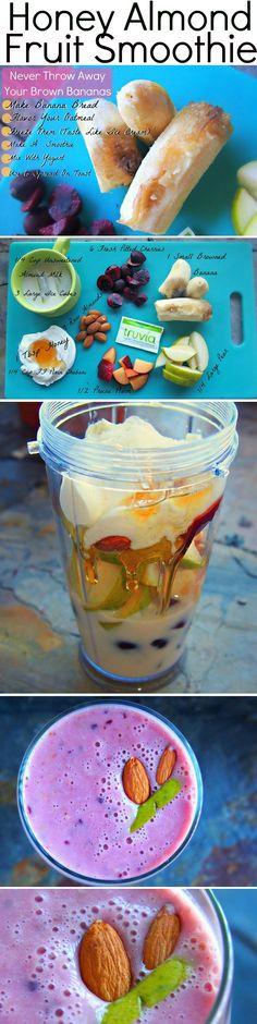 Honey Almond Fruit Smoothie