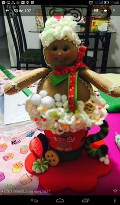 Gingerbread, Diy And Crafts, Christmas Crafts, Felt, Angeles, Cupcakes, Crochet, Molde, Baby Dolls