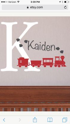 Wall decal train nursery theme