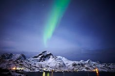The Northern Lights over the Lofoten Islands