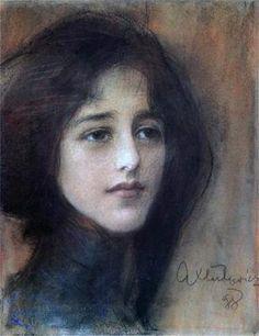 Teodor Axentowicz Portret kobiety / Potrait of woman, 1897