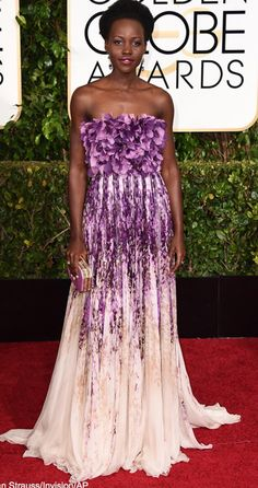 Lupita looking as perfect as she is at the 2015 Golden Globes
