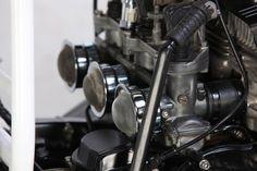 Ottonero Cafe Racer: Suzuki GT 550 café racer / Suzuki RGV250 Kevin Schwantz Lucky Strike