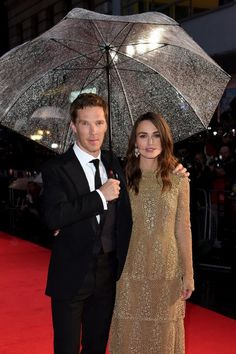 58th London Film Festival - Keira Knightley and Benedict Cumberbatch at event of The Imitation Game (2014)