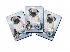 Tierische PartyartikelSpielkarten Set: Mops