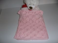 Doll Blanket Pink Blanket Blythe Latti Yellow Pukifee Lacy Diamonds Knit Doll Blanket/Afghan by DelsYarnBasket on Etsy