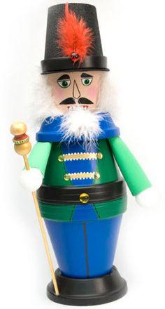 DecoArt® Nutcracker with Staff #claypot #craft #christmas