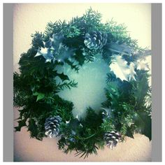 Christmas wreath made from scratch =) 10.00 made to order