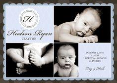 #baby #boy #birth #announcement