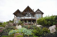 Choice Construction, Remodel, Custom Homes, Gig Harbor, Curb Appeal, Landscaping, Driveway, Wood Beams, Deck, Water View
