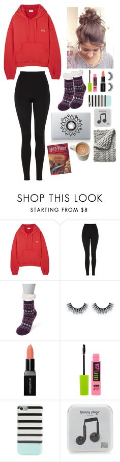 """Day 3 at Tahoe"" by gussied-up ❤ liked on Polyvore featuring RE/DONE, Topshop, Muk Luks, Smashbox, Maybelline, Kate Spade, Happy Plugs and Serena & Lily"
