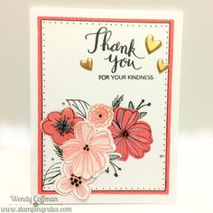 Stamping Rules!: Day 333: New Product Blog Hop, Thank you card with CTMH Springtime Wishes