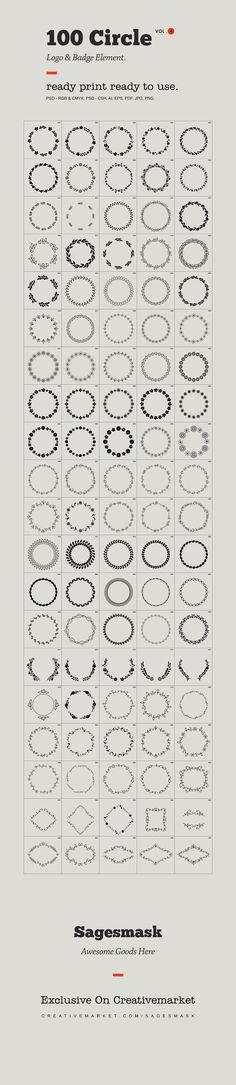 Circle Logo & Badge Element Vol. 4 by sagesmaskelement on @creativemarket