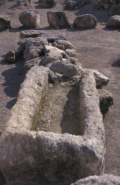 ✮ Close up of excavations in the ancient biblical city Meggiddo, Israel