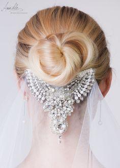 Bridal Veil medium length white veiling rhinestone by AmahleBridal Bridal Tiara, Bridal Headpieces, Bridal Jewellery, Romantic Wedding Hair, Wedding Veils, Disney Bridal Showers, White Bridal, Lace Weddings, Wedding Hair Accessories