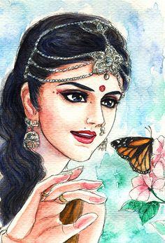 Fanart of Satyavati,Mahabharat,by Snowcandy.CC:BY-NC-ND