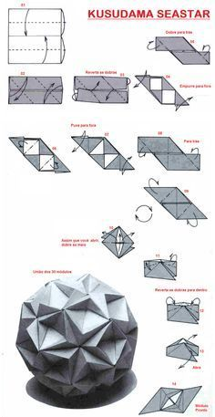 Adobracya: Diagrama Do Kusudama Seastar hmm..looks a little complicated...