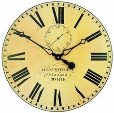 Roger Lascelles Glasgow Station Clock, 19.7-Inch #RogerLascelles