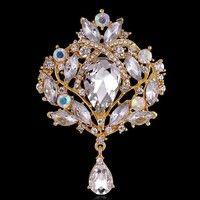 Flower Pendant Brooch Pin Rhinestone Crystal. Crystal BroochCrystal  RhinestoneFashion AccessoriesJewelry ... 3919cb3dff12