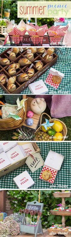 Fiesta infantil de verano summer picnic party #fiestasinfantiles #summerparty #icecreamparty #fiestadeniños