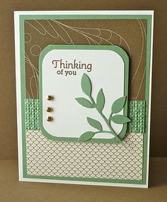 Nice card...nice colors & doesn't look too difficult to make.