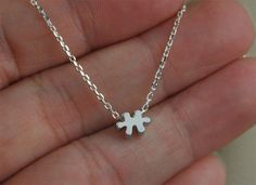 Sterling silver necklace Puzzle Necklace  Dainty by SimpleStep