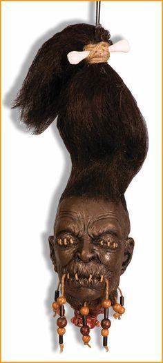 Halloween Voodoo Head Props