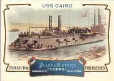 2011 Topps Allen & Ginter - Floating Fortresses #FF15 USS Cairo Front