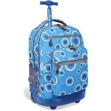 J World Sundance 20 inch Rolling Laptop Backpack, Blue Girls Rolling Backpack, Backpack With Wheels, Cushion Pads, Laptop Backpack, Laptop Sleeves, Shoulder Strap, Rolls, Backpacks, Bags