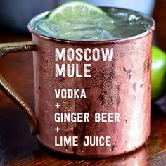 "17 Three Ingredient Cocktails You Should Know How To Make! It's five o'clock somewhere, right? The moscow mule is particularly refreshing on these hot summer days. Three-Ingredient Cocktails You Should Know How To Make"" Summer Cocktails, Cocktail Drinks, Cocktail Recipes, Easy Vodka Cocktails, Cocktails 3 Ingredients, Cocktails You Should Know, Cheers, Christmas Cocktail, Think Food"