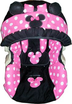 Minnie mouse infant car seat cover any model by dreammakersdesign, Minnie Mouse, Baby Mouse, Baby Girl Car Seats, Everything Baby, My Baby Girl, Baby Baby, Baby Disney, Baby Accessories, Baby Dolls