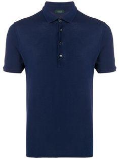 Zanone slim-fit polo shirt - Blue