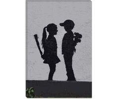 """Boy Meets Girl"" Banksy print (and Vday present from my bf)"