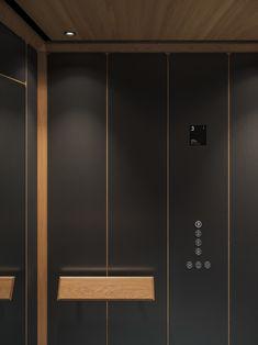 david/nicolas create exclusive elevator cabin series for Mitsulift Lift Design, Cabin Design, Lobby Interior, Interior Stairs, Cabin Interiors, Office Interiors, Beirut, Elevator Lobby Design, David
