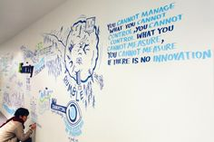 InnovationLive wall at Davos WEF