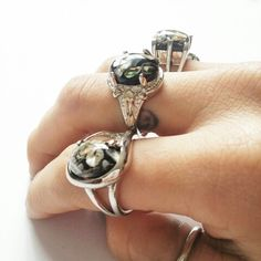Nebular shell rings > lanaejewels.com
