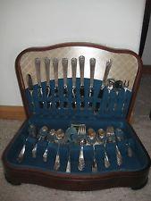 Wm. Rogers & Son 63 Piece Set Silverplated Silverware - $42 Silverware Sets, Flatware Set, Ebay, Cutlery Set