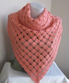 Unique Tea rose orange Mercerized shawl..cotton by asuhan on Etsy, $70.00