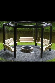 Oh, if I had the yard for this then I would so have it.  I Iove swings.