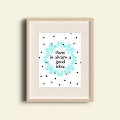 Quote Print Printable wall art decor poster. от printableartidea