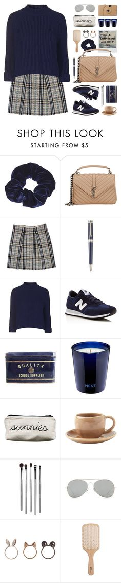 """winter sunnies"" by jesuisunlapin on Polyvore featuring Polaroid, Topshop, Yves Saint Laurent, Burberry, Montegrappa, New Balance, FOSSIL, Nest, Toast and esum"