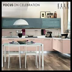 Pastel kitchen and dining