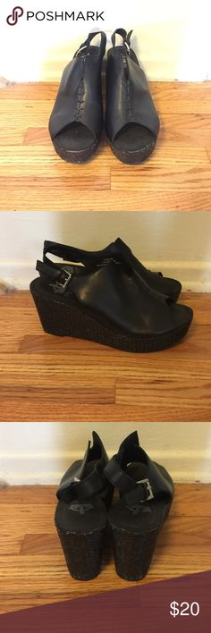 c2a16b2b98c Sling Back platforms Worn only a handful of times. Black leather