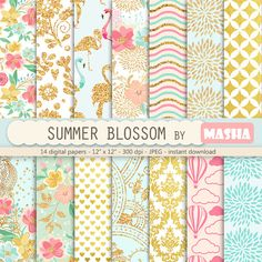 Check out this item in my Etsy shop https://www.etsy.com/listing/268865315/flower-digital-papers-summer-blossom