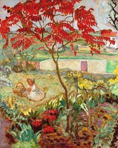 """Pierre Bonnard (1867-1947) """" Le jardin à l'arbre rouge."""""""