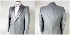 Vintage Grey Bill Blass Tuxedo / After Six / 42R / by fourBvintage