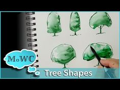 How to Paint Tree Studies in Watercolor – Basic Shapes - YouTube