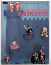 Vintage Whitman STORYBOOK LIDDLE KIDDLES SWEETHEARTS paper dolls 1969 uncut
